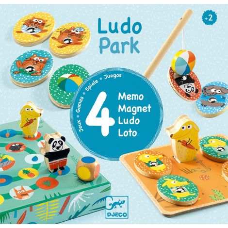 LUDOPARK 4-IN-1 GAMES FOR TOTS