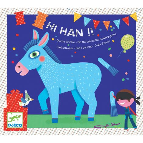 HI HAN! PIN-THE-TAIL-ON-THE-DONKEY GAME