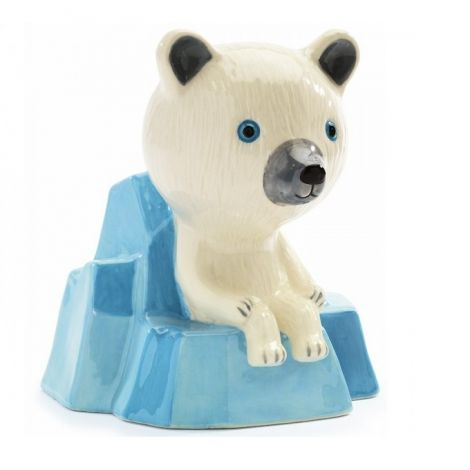 CERAMIC MONEY BANK: ON THE ICE FLOE