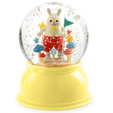 SNOW GLOBE NIGHTLIGHT: LITTLE RABBIT