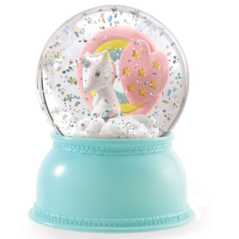 SNOW GLOBE NIGHTLIGHT: UNICORN