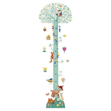 WALL STICKER HEIGHT CHART: BLOSSOMING TREE