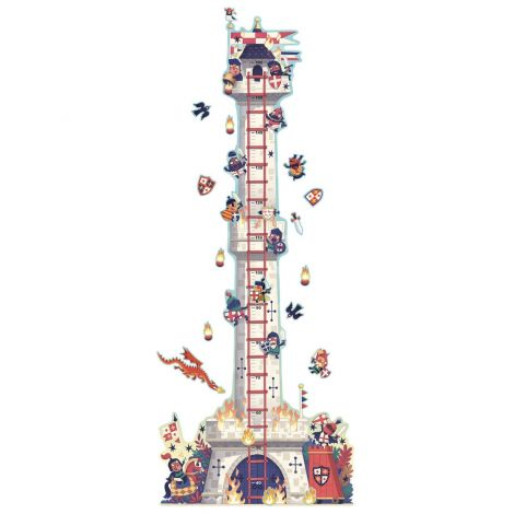 REPOSITIONABLE WALL STICKER HEIGHT CHART: TOWER TO THE KNIGHTS