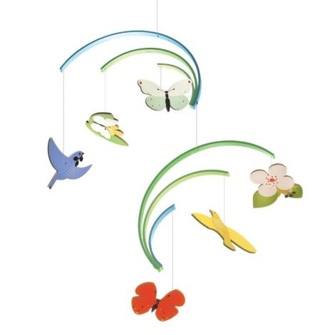 SPRING WOODEN CEILING MOBILE