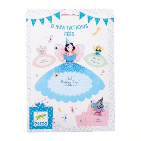 PARTY INVITES SET OF 8: FAIRIES
