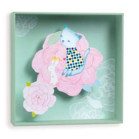 TABLEAUX WALL ART: CABBAGES & FLOWERS