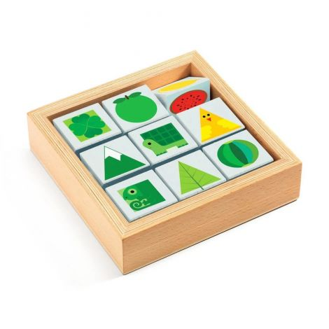 TRIBASIC WOODEN SPINNING FRAME PUZZLE