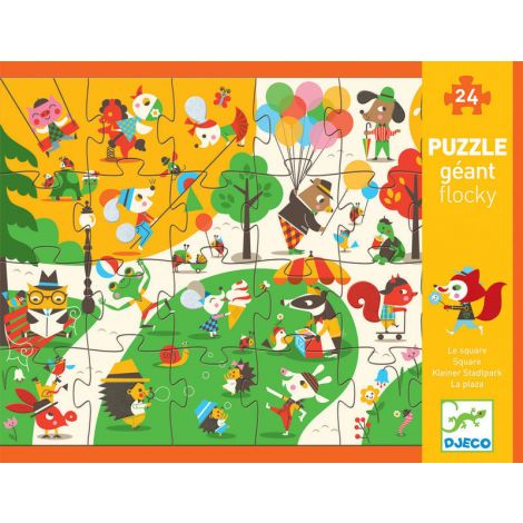 GIANT TACTILE JIGSAW PUZZLE: FLOCKY PLAYGROUND (24PC)