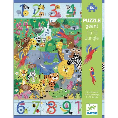 GIANT OBSERVATION JIGSAW PUZZLE: JUNGLE 1-10 (54PC)