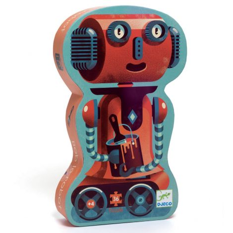 SILHOUETTE JIGSAW PUZZLE: BOB THE ROBOT (36PC)