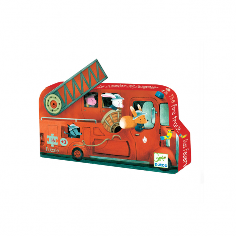 SILHOUETTE PUZZLE: THE FIRE TRUCK (16PC)