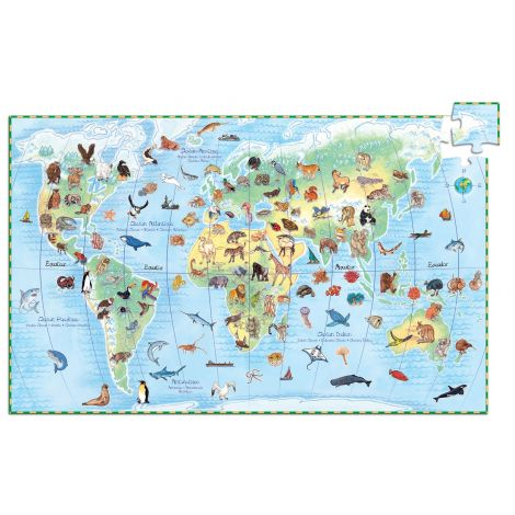 OBSERVATION PUZZLE: WORLD ANIMALS (100PC)