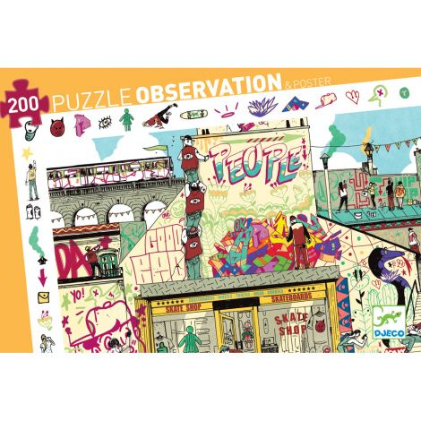 OBSERVATION JIGSAW PUZZLE: STREET ART (200PC)