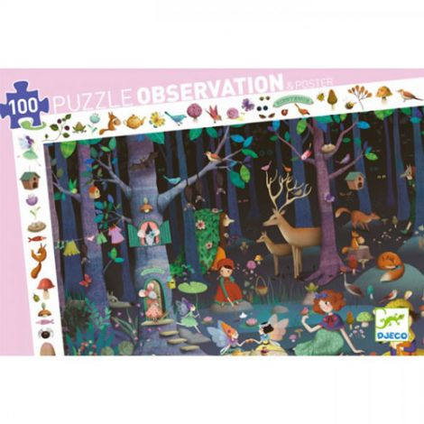 OBSERVATION JIGSAW PUZZLE: ENCHANTED FOREST (100PC)