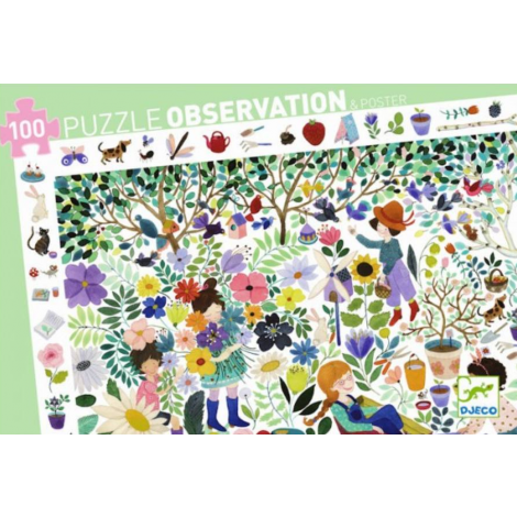 OBSERVATION JIGSAW PUZZLE: 1000 FLOWERS (100PC)