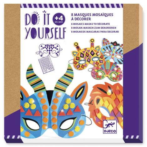 DO IT YOURSELF ACTIVITY SET: JUNGLE ANIMAL MASKS TO CREATE