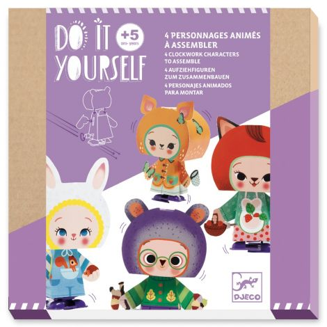 DO IT YOURSELF ACTIVITY SET: WIND-UP FOREST CREATURES TO CREATE