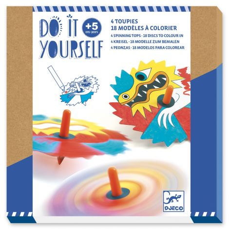 DO IT YOURSELF ACTIVITY SET: DRAGON SPINNING TOPS TO CREATE