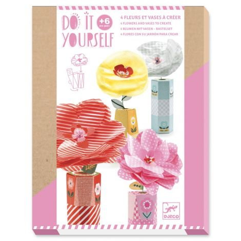 DO IT YOURSELF ACTIVITY SET: FLOWERS & VASES TO CREATE