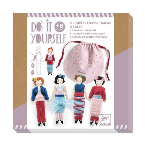 DO IT YOURSELF ACTIVITY SET: 5 WORRY DOLLS TO CREATE