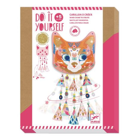 DO IT YOURSELF ACTIVITY SET: KITTY WINDCHIME TO CREATE