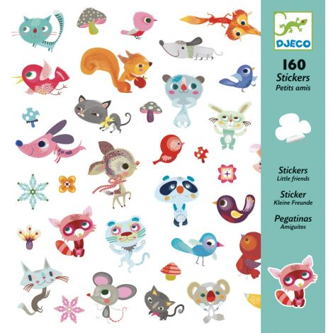 SET OF 160 STICKERS: SMALL FRIENDS