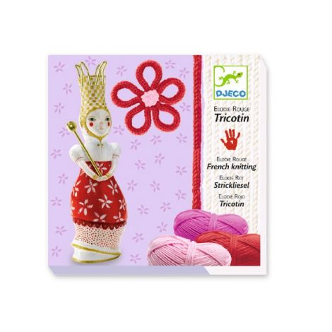 RED ELODIE FRENCH KNITTING WORKSHOP KIT