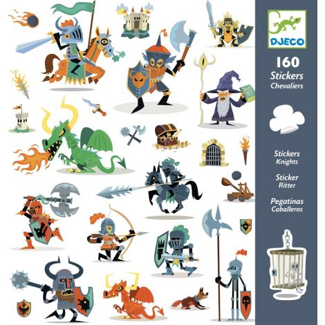 SET OF 160 STICKERS: KNIGHTS
