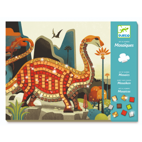 METALLIC MOSAICS ACTIVITY SET: DINOSAURS