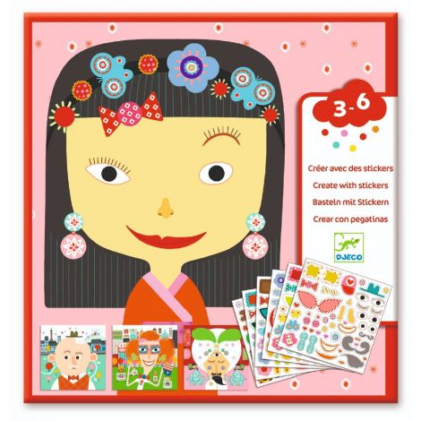 CREATE-WITH-STICKERS ACTIVITY SET: ALL DIFFERENT
