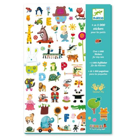 SET OF 1000 STICKERS FOR LITTLE ONES