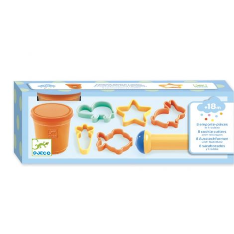 CLAY DOUGH ALL-IN-ONE ACTIVITY SET: DOUGH + CUTTERS+ ROLLING PIN