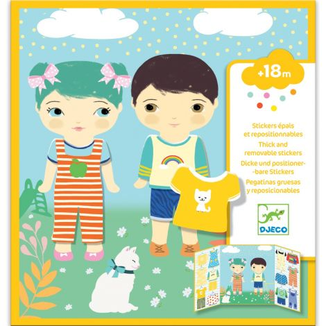 REPOSITIONABLE STICKER ACTIVITY SET FOR TODDLERS: CLOTHES
