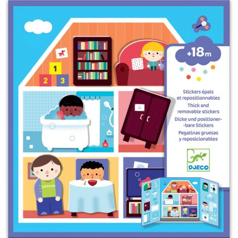 REPOSITIONABLE STICKER ACTIVITY SET FOR TODDLERS: HOUSE