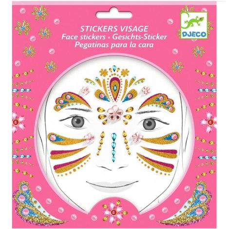 EMBELLISHED FACE STICKERS: GOLD PRINCESS