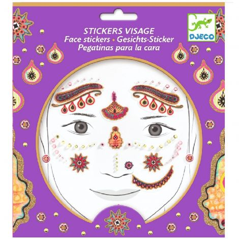 EMBELLISHED FACE STICKERS: PRINCESS INDIA