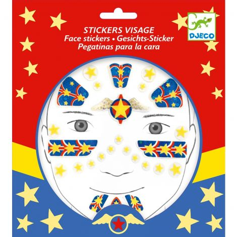 [BUY 3 GET 4TH FREE] EMBELLISHED FACE STICKERS: SUPER HERO