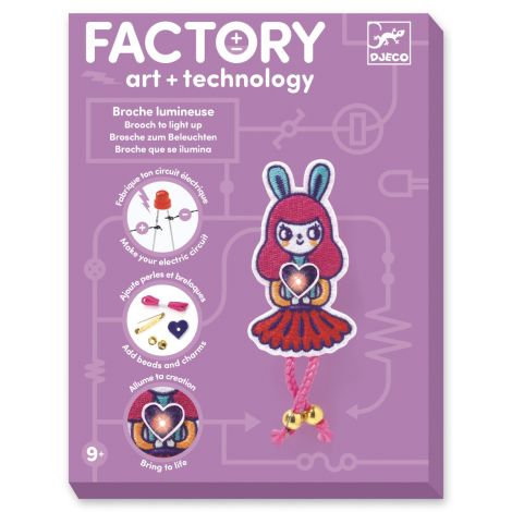 FACTORY ART + SCIENCE PROJECT KIT: 'BUNNY GIRL' BROOCH PIN