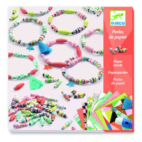 PAPER BEADED SPRING BRACELETS CRAFT ACTIVITY SET