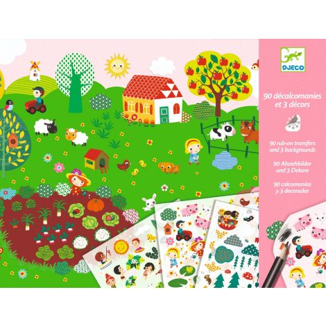 RUB-ON TRANSFER DECALS ART ACTIVITY SET: NATURAL LANDSCAPES