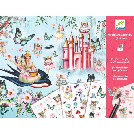 RUB-ON TRANSFER DECALS ART ACTIVITY SET: FAIRYLAND