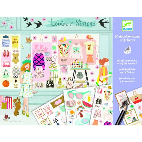 RUB-ON TRANSFER DECALS ART ACTIVITY SET: FASHIONISTA