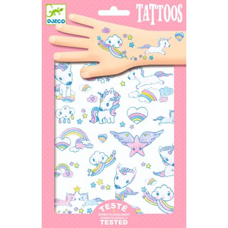 TEMPORARY GLITTER TATTOOS: UNICORNS