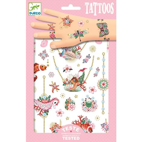 TEMPORARY FOIL TATTOOS: THE MERMAID'S JEWELS