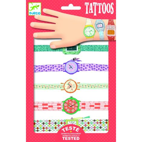 TEMPORARY FOIL TATTOOS: WENDY'S WATCHES
