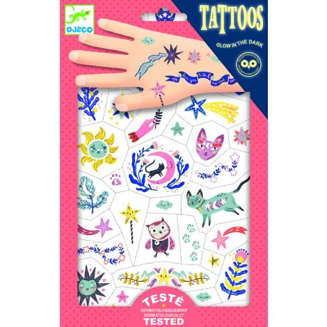 TEMPORARY GLOW-IN-THE-DARK TATTOOS: SWEET DREAMS