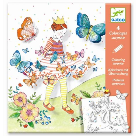 COLOURING SURPRISE ACTIVITY SET: LADY BUTTERFLY