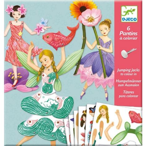 JUMPING JACKS COLOURING ACTIVITY SET: FAIRIES