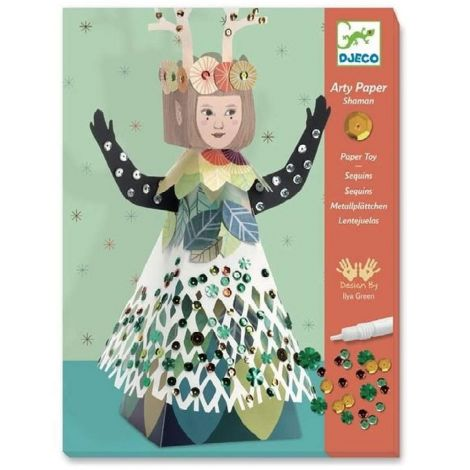 ARTY PAPER + MINI SEQUIN CRAFT ACTIVITY SET: SHAMAN