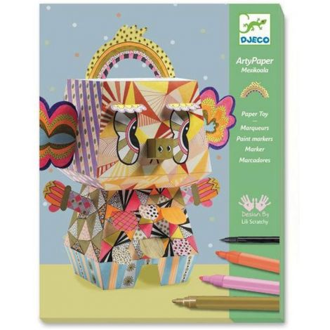 ARTY PAPER + PAINT MARKERS CRAFT ACTIVITY SET: MEXIKOALA